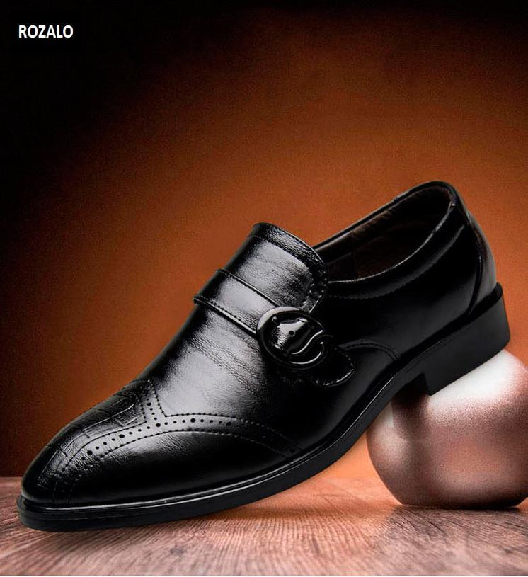 Giày tây nam công sở thoáng khí kiểu xỏ có khóa Rozalo RM51091B-Đen5.png