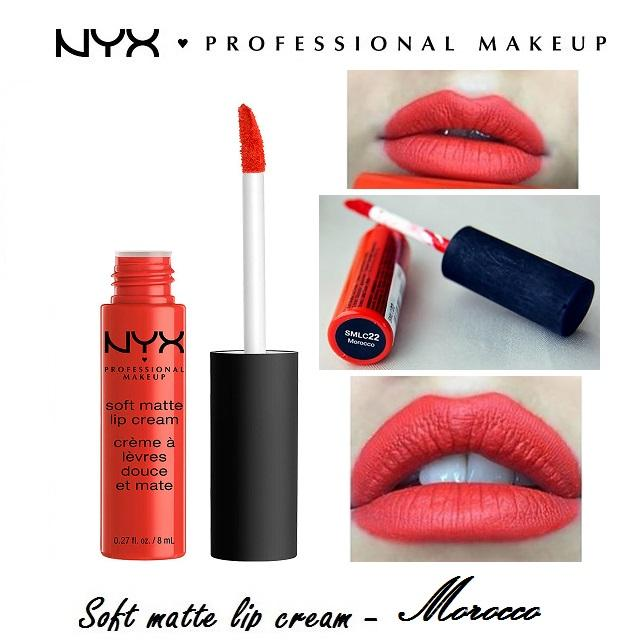 Son kem NYX Professional Makeup Soft Matte Lip Cream Morocco SMLC22