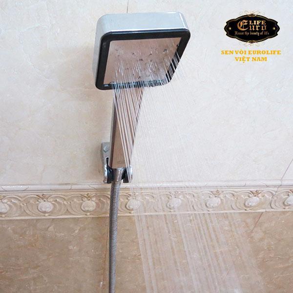Bộ tay dây sen siêu tăng áp 1 chế độ nước chảy Eurolife EL-113SH-4.jpg