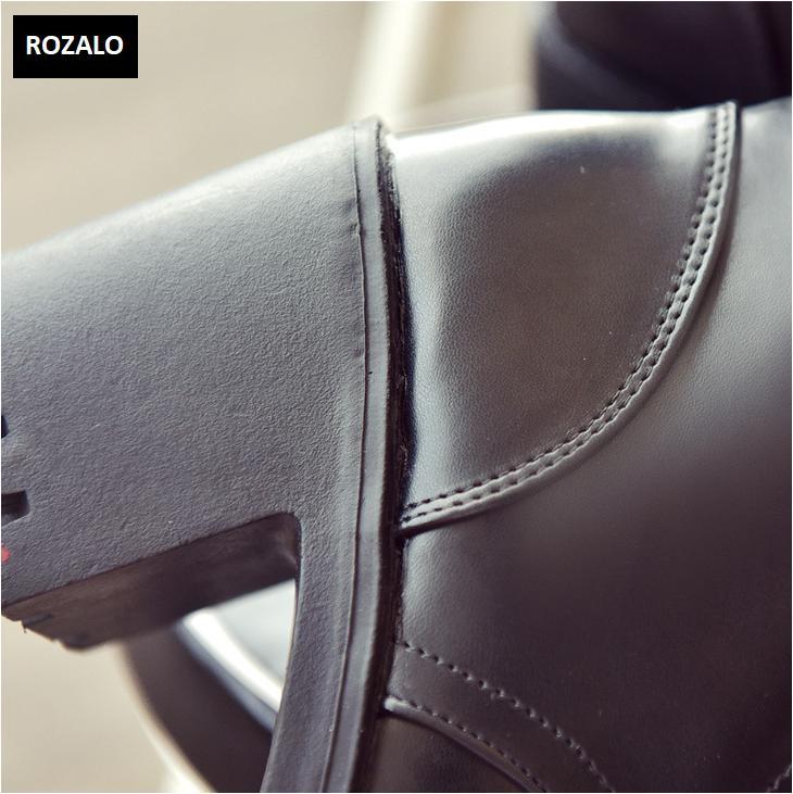 Giày boot nữ cổ cao đế vuông chống trượt Rozalo RW81130B-Đen12.png