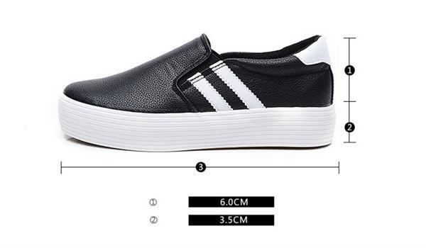 Giày lười tăng chiều cao nữ ZANI ZN3669BW-Đen Trắng
