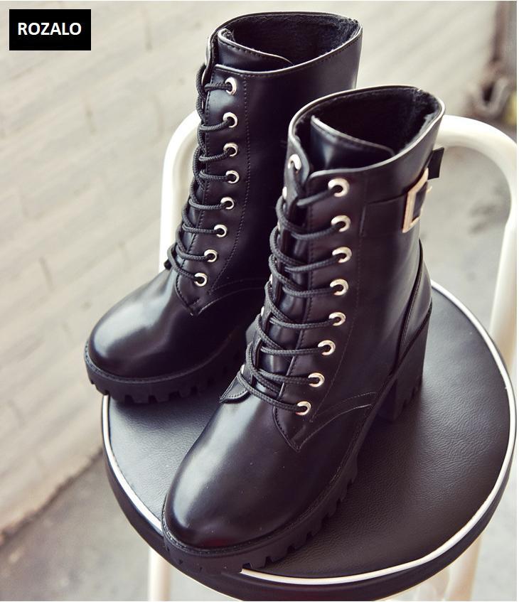 Giày boot nữ cổ cao đế vuông chống trượt Rozalo RW81130B-Đen7.png