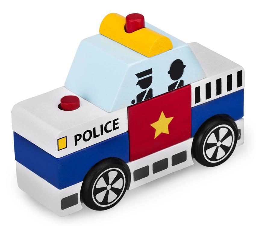 Lắp ráp xe cảnh sát Winwintoys 60292