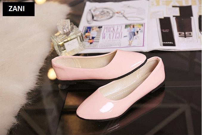Giày búp bê đế bệt ZANI ZW85016P-Hồng