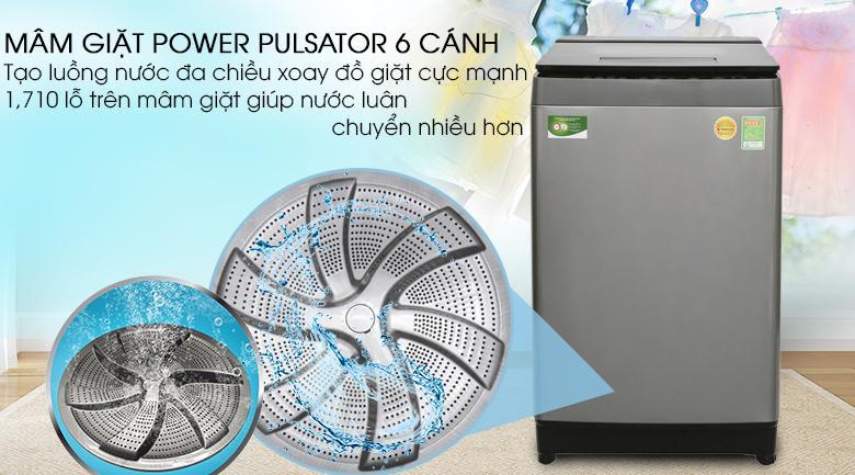 Mâm giặt Power Pulsator - Máy giặt Toshiba Inverter 10 kg AW-DUH1100GV