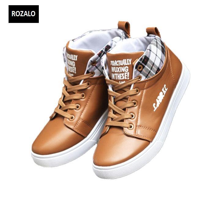 Giày cổ cao thời trang nam Rozalo RM5822N-Nâu.jpg