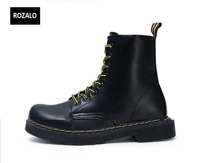 Giày boot nữ cổ cao chống nước Rozalo RW58866B-Đen