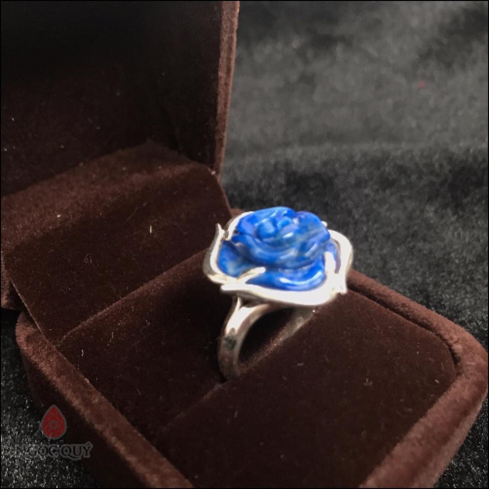 Nhẫn Bạc Hoa Mẫu Đơn Đá Lapis Lazuli.jpg