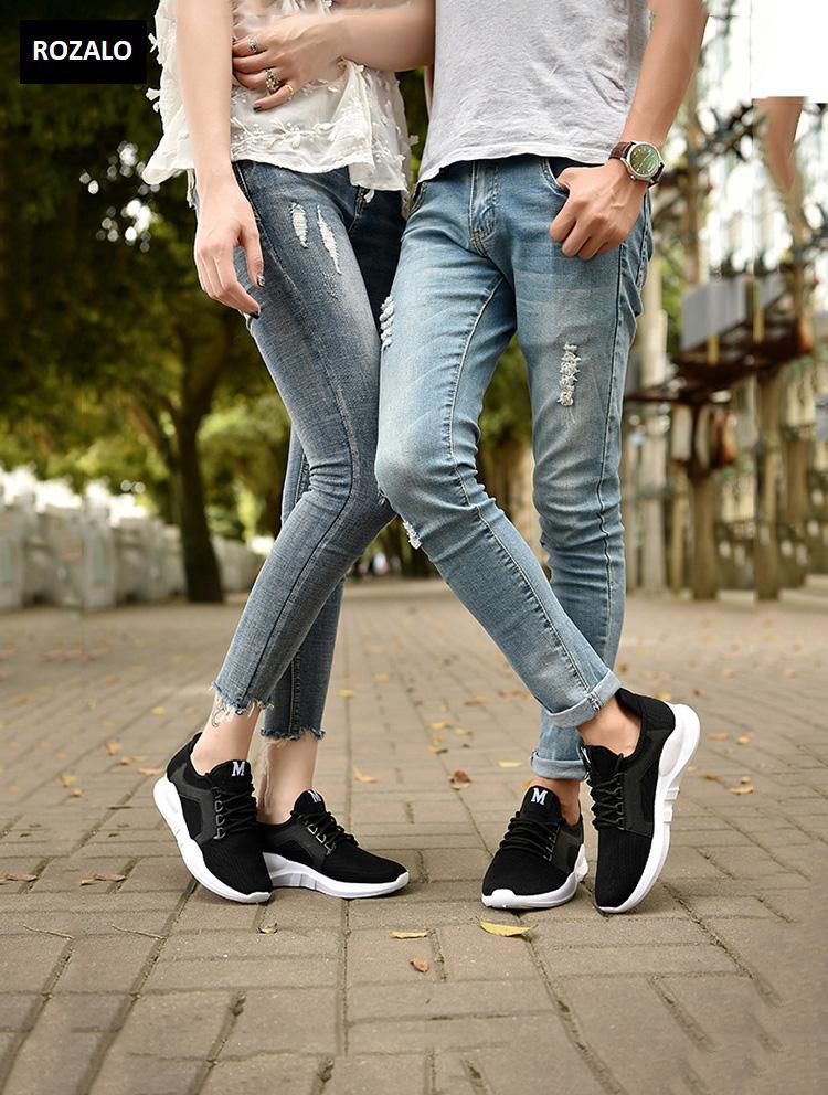 Giày đôi sneaker thời trang nam nữ Rozalo RZ8011BW- Đen 15.jpg