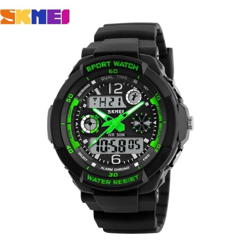 Đồng hồ thể thao trẻ em dây nhựa Skmei S-Shock 10K1N60 (Xanh Lá) bán chạy