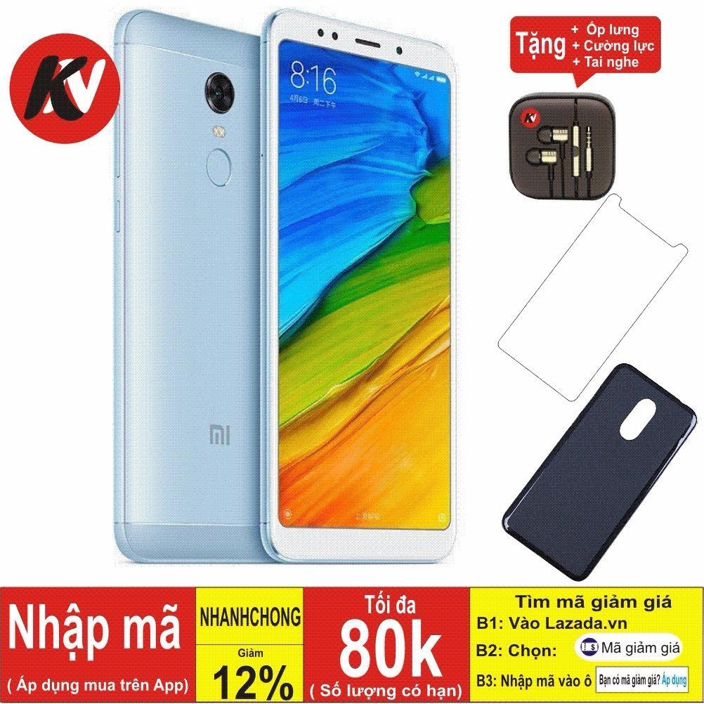 Xiaomi Redmi 5 Plus -32GB Ram 3GB ( Xanh ) - Hàng nhập khẩu + Ốp lưng + Cường lực + Tai nghe nhét tai