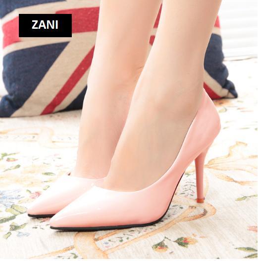 Giày cao gót nữ công sở 8cm ZaniZW31897P-Hồng