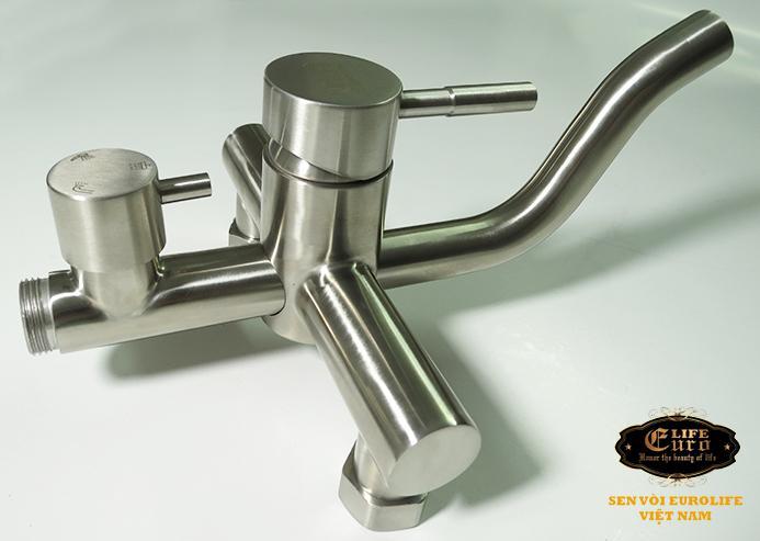 Bộ sen tắm đứng nóng lạnh Inox SUS 304 Eurolife EL-S918 (Trắng vàng)-3.jpg