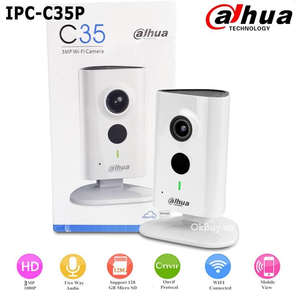 Camera IP Dahua C35 - Camera IP - 3.0mb (Tem DSS)