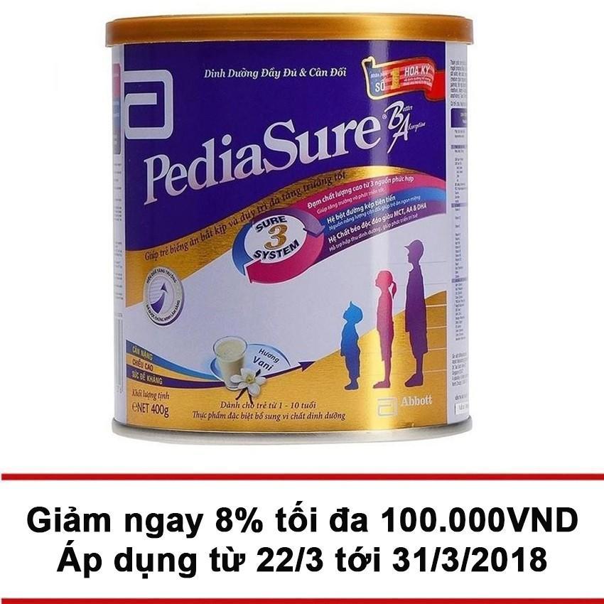 Dinh dưỡng bổ sung Pediasure B/A hương vani 400g