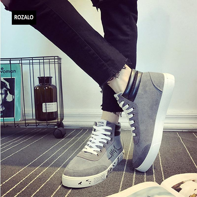 Giày vải casual nam cổ cao Rozalo RM55709 15.png