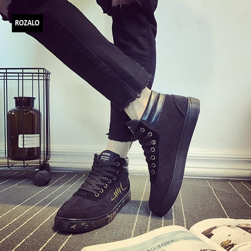 Giày vải casual nam cổ cao Rozalo RM55709 4.png