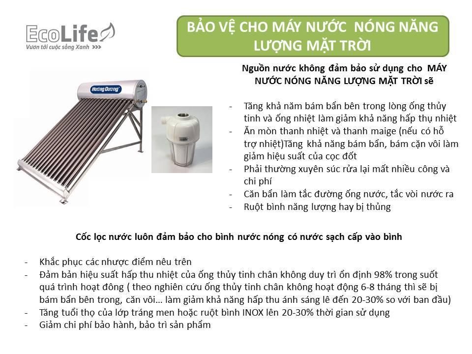 Cốc lọc cho máy nước nóng năng lượng mặt trời