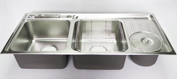 Chậu rửa chén Inox 2 hộc một hố rác Eurolife EL-C3-C16.jpg
