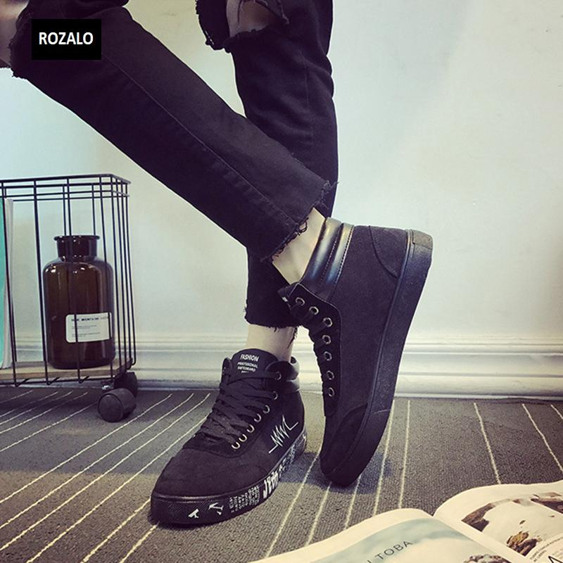 Giày vải casual nam cổ cao Rozalo RM55709 6.png