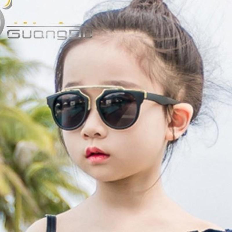 Mua Kính mát trẻ em Retro thời trang + Tặng bao da K113