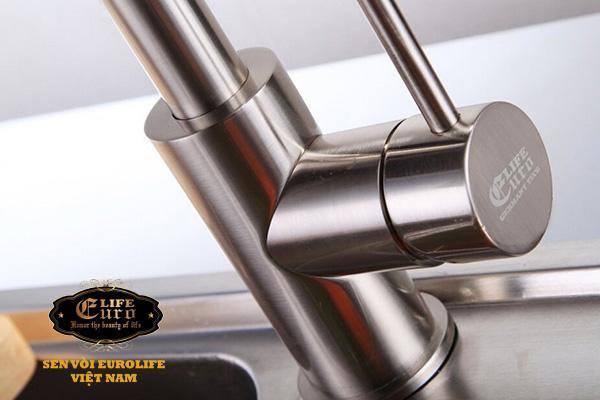 Vòi rửa chén nóng lạnh tay kéo Inox SUS 304 Eurolife EL-T011-2.jpg