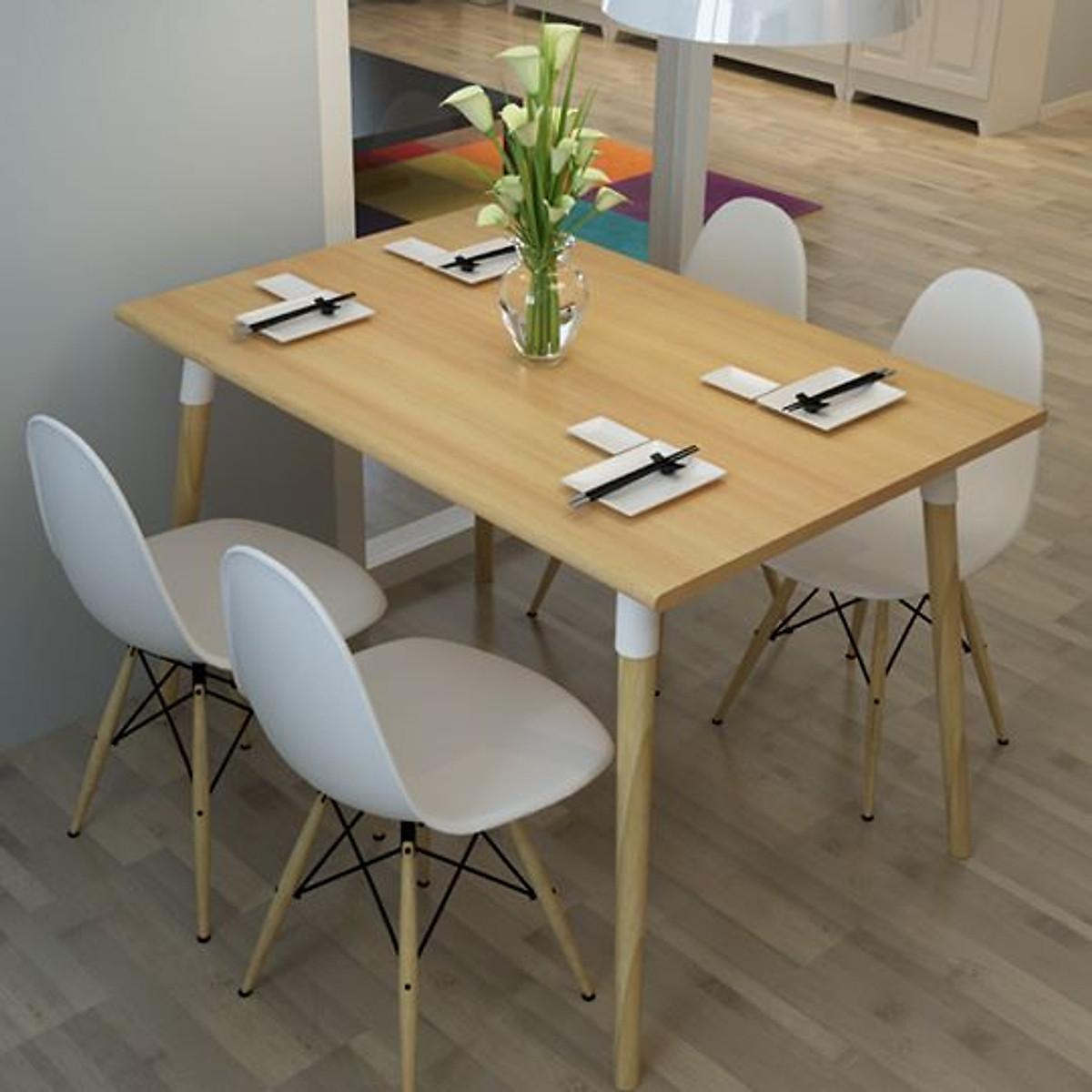 Bộ bàn ghế ăn tối giản kiểu Bắc Âu POANG