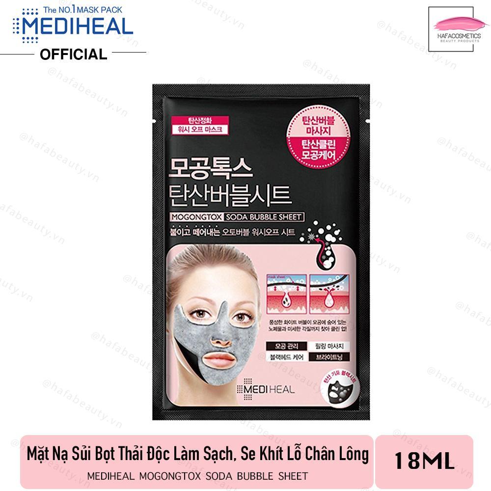 Mặt nạ sủi bọt thải độc làm sạch da và se khít lỗ chân lông Mediheal Mogongtox Soda Bubble Sheet 18ml