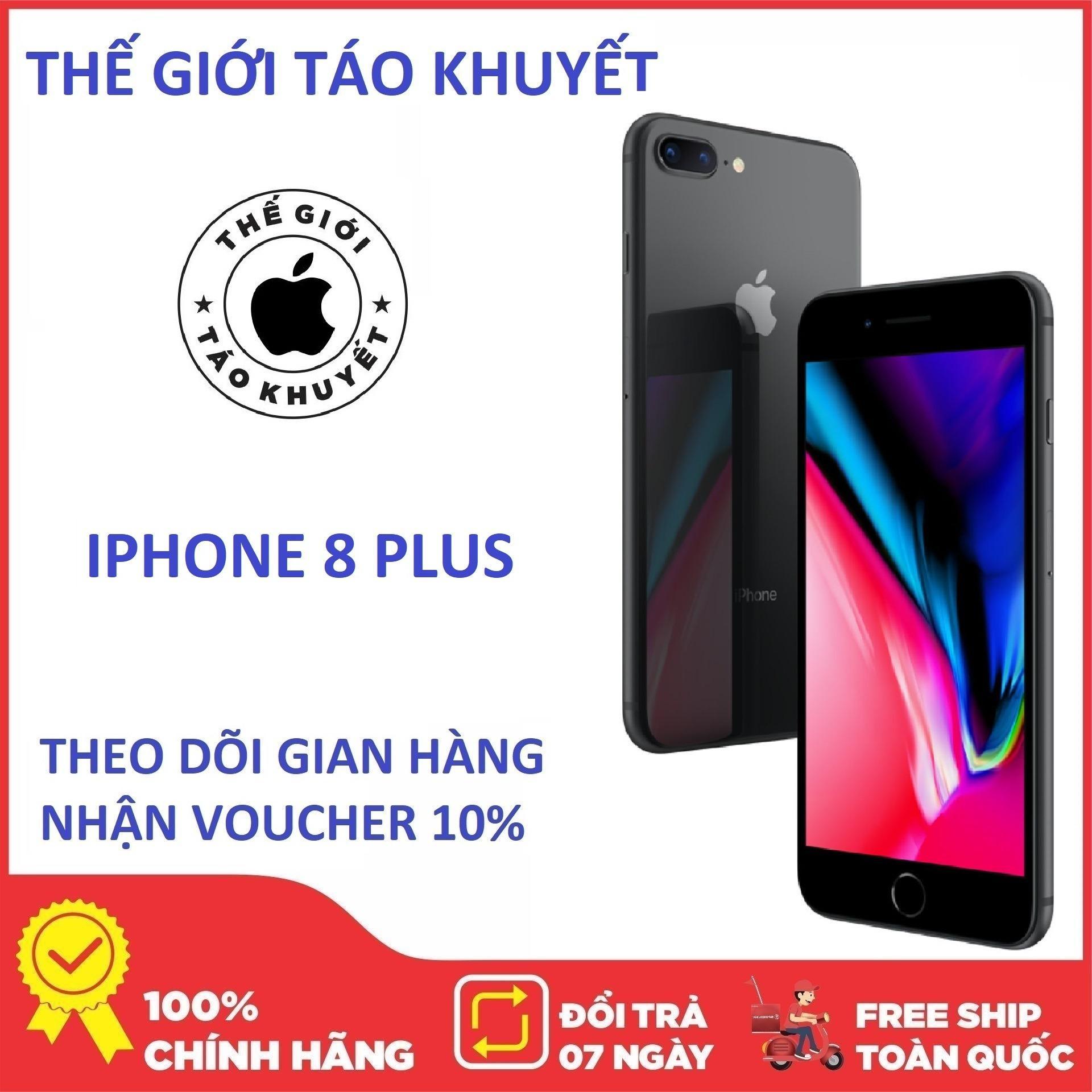 Điện thoại Apple IPHONE 8 PLUS - 64GB - Quốc Tế - Bảo hành 12T - Giá rẻ - Thế Giới Táo Khuyết