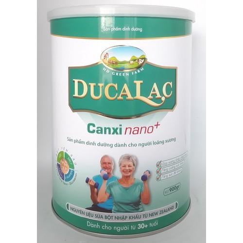 Sữa canxi nano hàm lượng cao bổ sung vitamin K2 yến sào Ducalac Canxi Nano + 900g