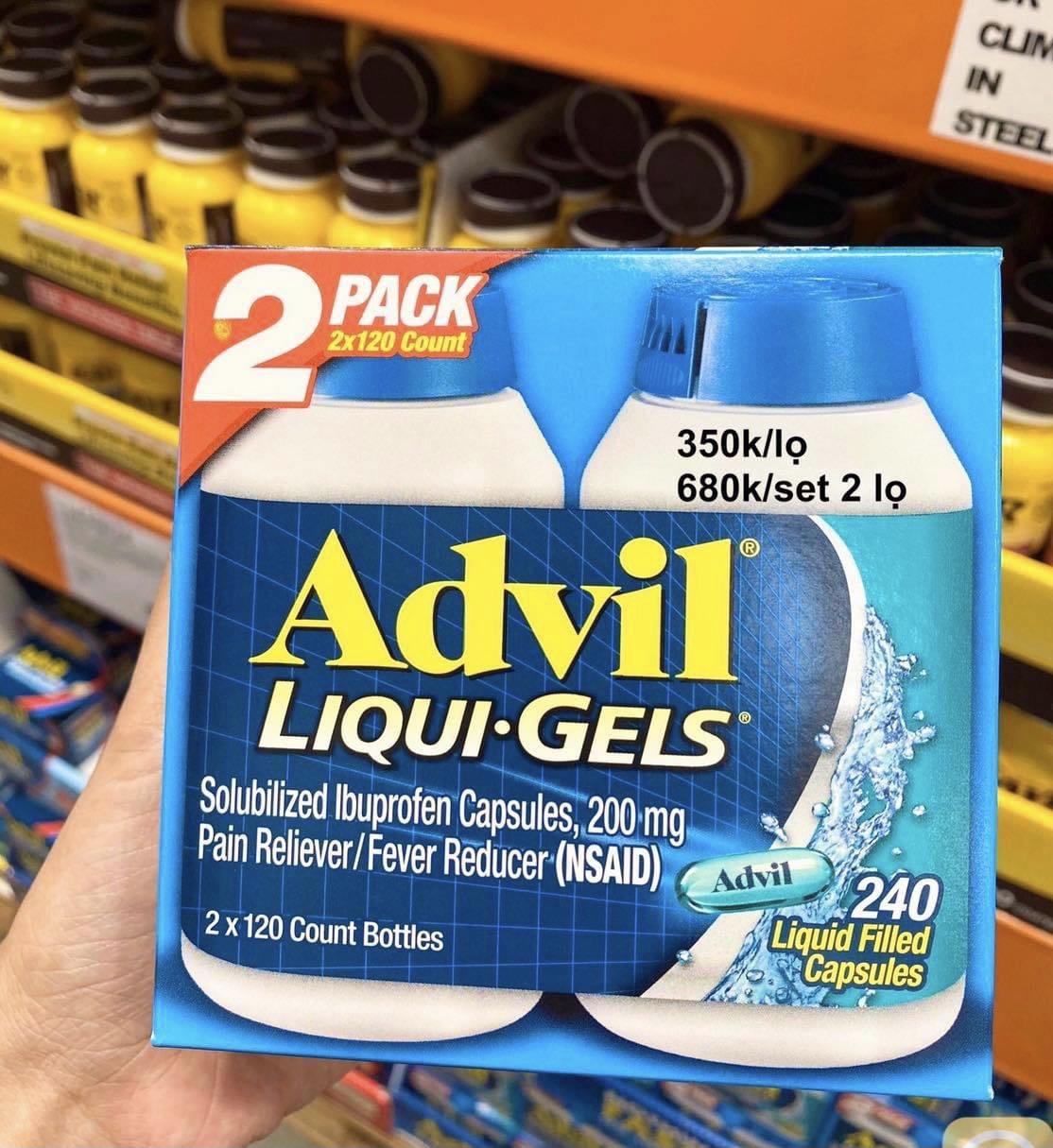 Advil Liqui Gels-120 viên