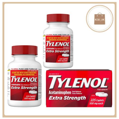 [KIXI] Viên uống giảm đau hạ sốt Tylenol Extra Strength 500mg 225 viên MỸ