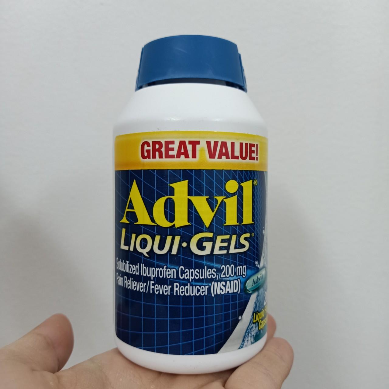 Viên uống Advil Liqui. Gels 200 viên của Mỹ