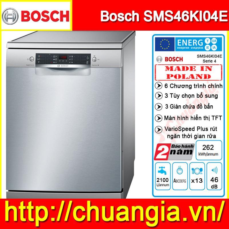 Máy Rửa Bát Bosch SMS46KI04E Serie 4