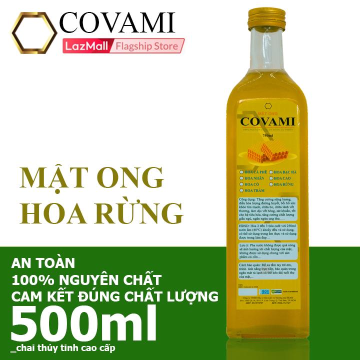 Mật ong Hoa Rừng Nguyên Chất COVAMI 500ml nguyên chất an toàn cam kết đúng chất lượng