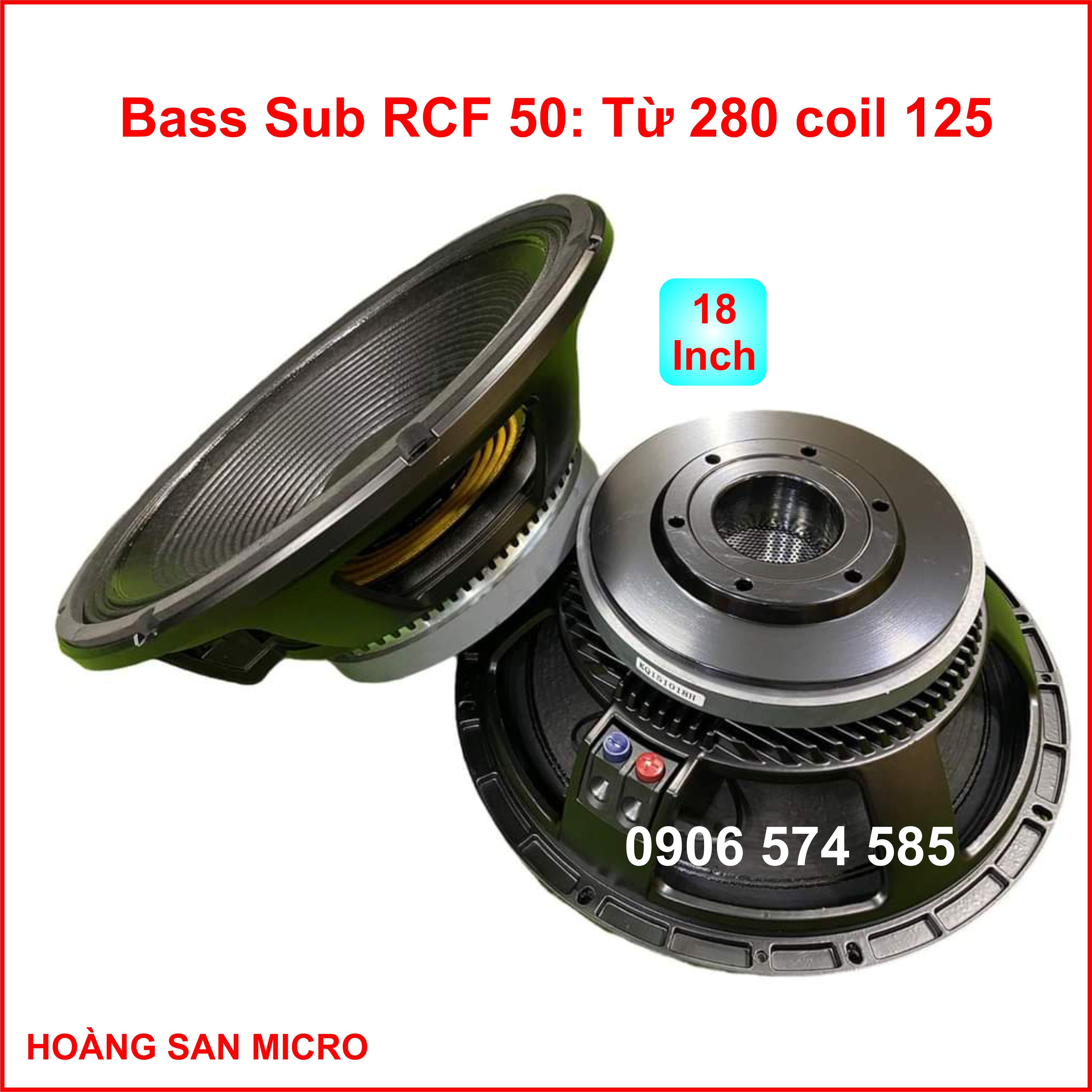 [Nhập khẩu] Loa bass RCF 5 tấc từ 280 coil 125  - bass 50 coil 125 từ 280  -  bass 18 inch RCF - giá một cái