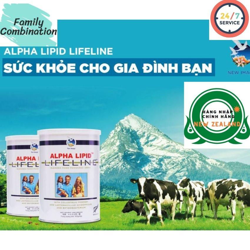 Combo 2 lon sữa non Alpha Lipid Lifeline Sữa Non Alpha Lipid Nguyên Code 450g Của New Zealand