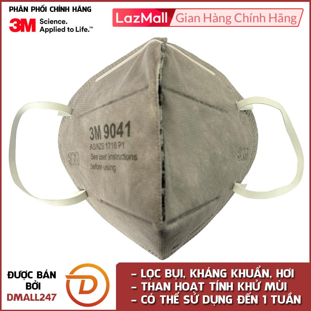 Khẩu trang than hoạt tính chống bụi mùi hôi và kháng khuẩn 3M 9041