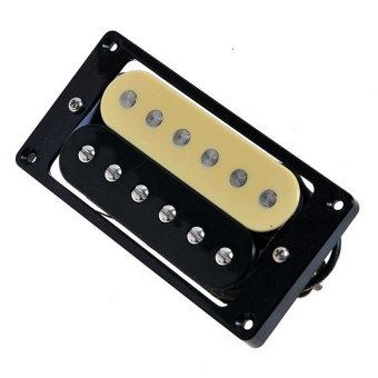 MOON STORE A group of two electric guitar zebra pickups black linered line each one - intl