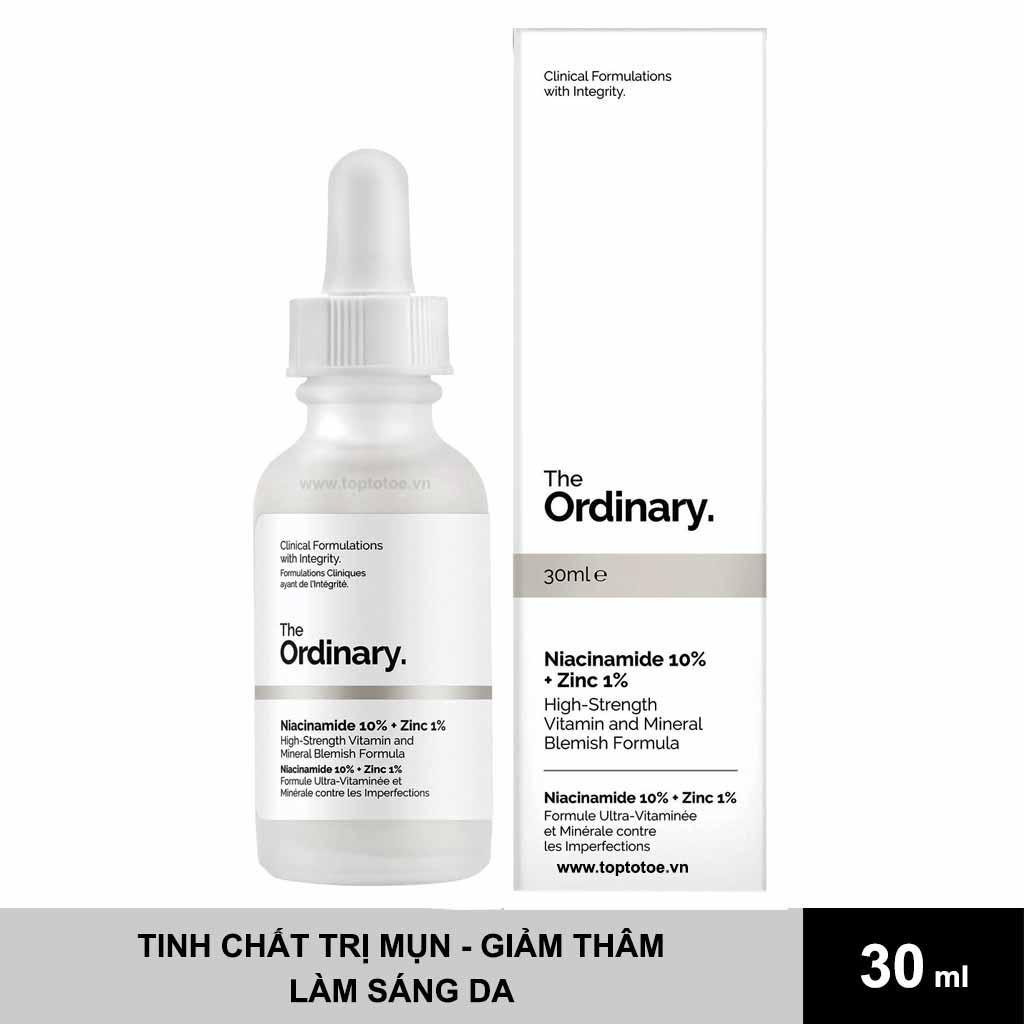 Tinh Chất Trị Mụn & Giảm Thâm The Ordinary Niacinamide 10% + Zinc 1%