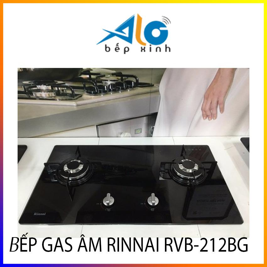 [HCM]Bếp gas âm Rinnai RVB-212BG (Đen) - Bếp ga âm Rinnai - Có ngắt gas tự động - Alo Bếp xinh