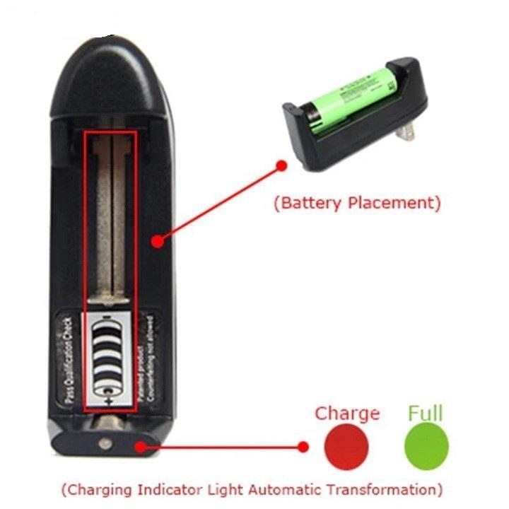 Cục Sạc Pin đa năng 4.2v sạc được cho pin 18650 pin AA và pin AAA