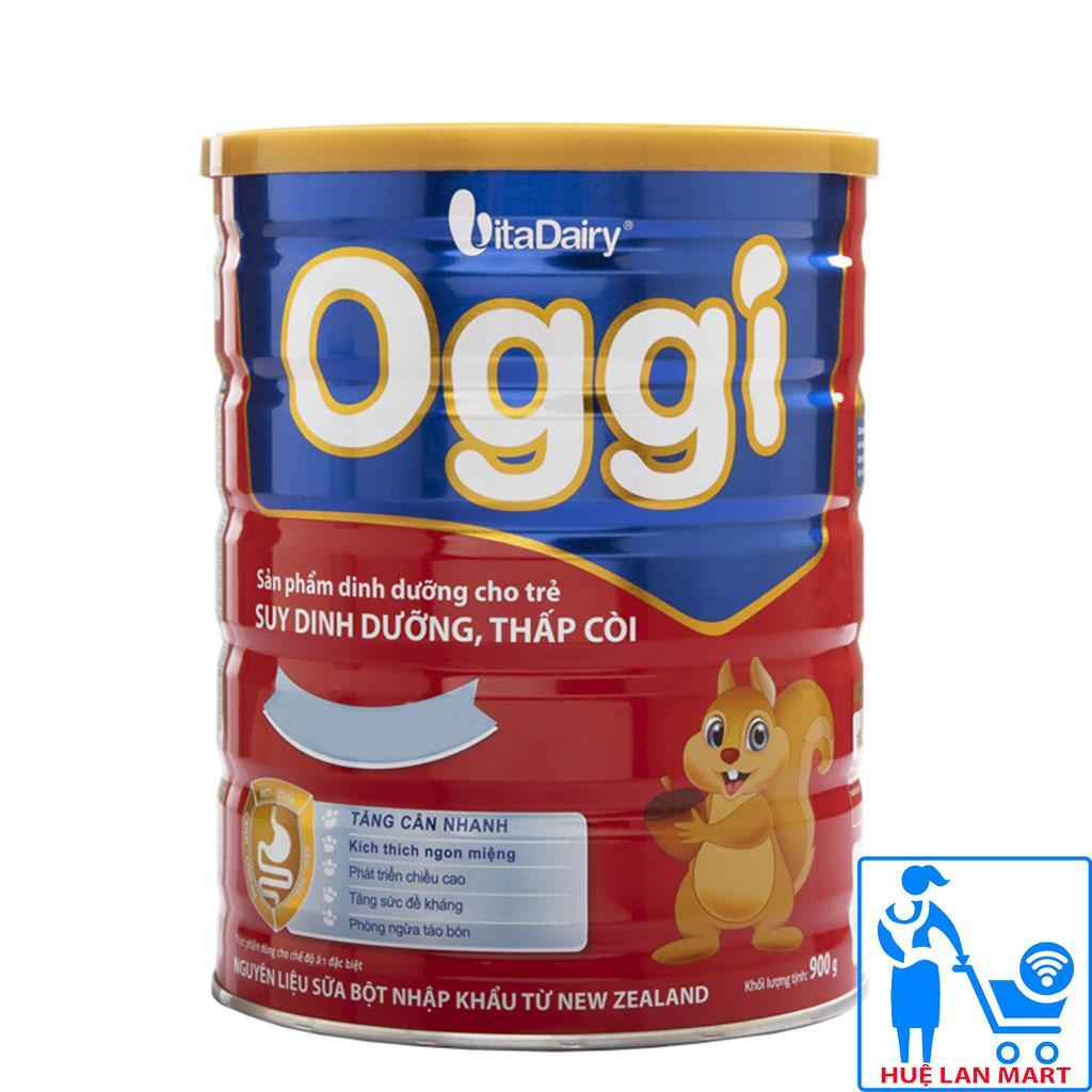 Sữa Bột VitaDairy Oggi Hộp 900g (Sản phẩm dinh dưỡng cho trẻ SUY DINH DƯỠNG THẤP CÒI từ 1~10 tuổi)