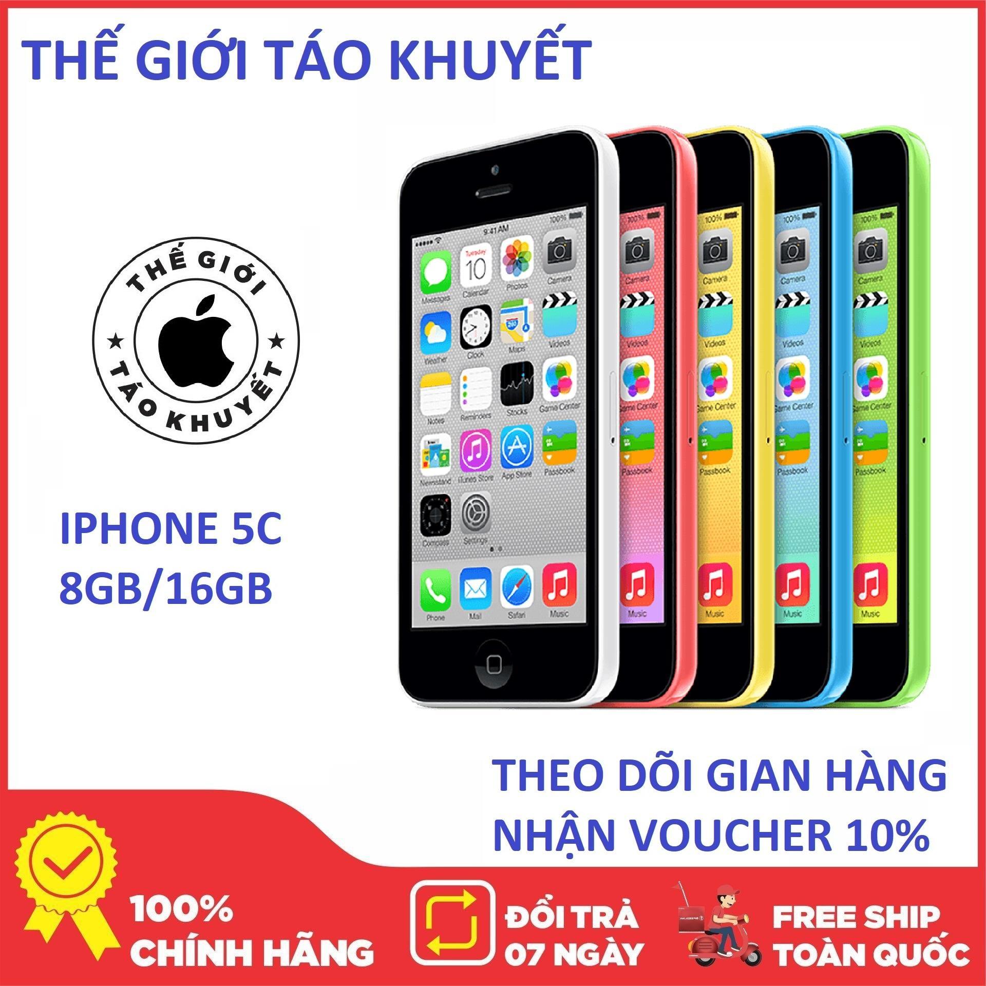 Điện thoại Apple IPHONE 5 C ZIN KENG - 16GB/8GB - Bảo hành 12T - Giá rẻ - Tặng cáp củ sạc - Thế Giới Táo Khuyết