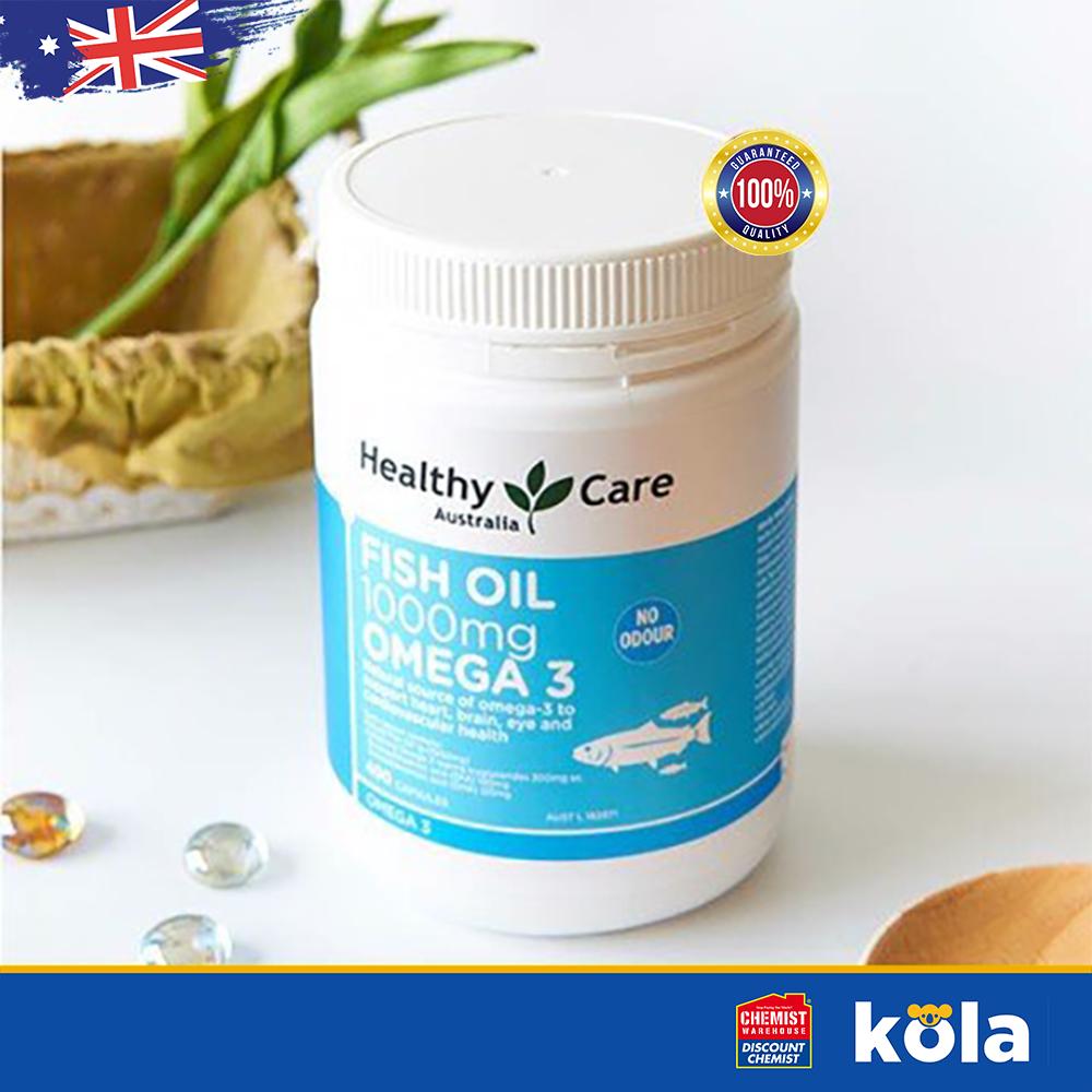 Viên uống Omega 3 Úc Healthy Care Fish Oil 1000mg Omega 3 400 viên