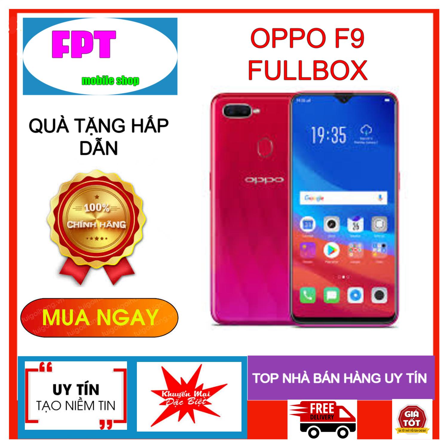 Oppo F9 Fullbox Siêu Selfie Ram 4Gb Bộ Nhớ 64Gb_Màn Hình Tai Thỏ Chiến Game Siêu Mạnh