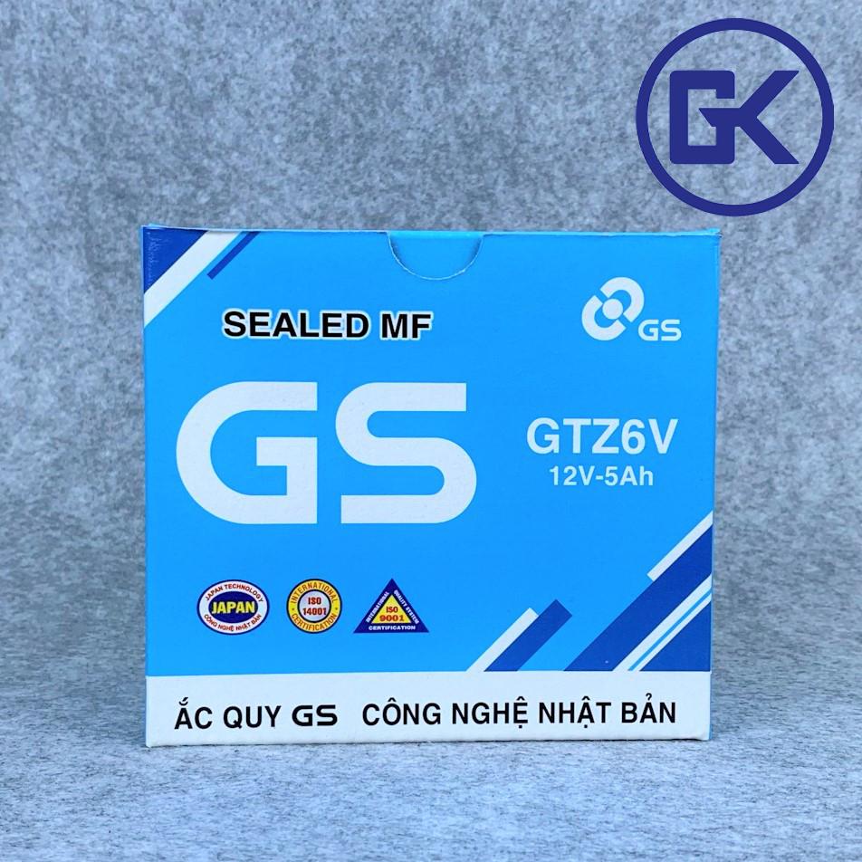 [BẢO HÀNH 6 THÁNG] Ắc quy xe máy GS khô 12V-5Ah nhỡ (GTZ6V)