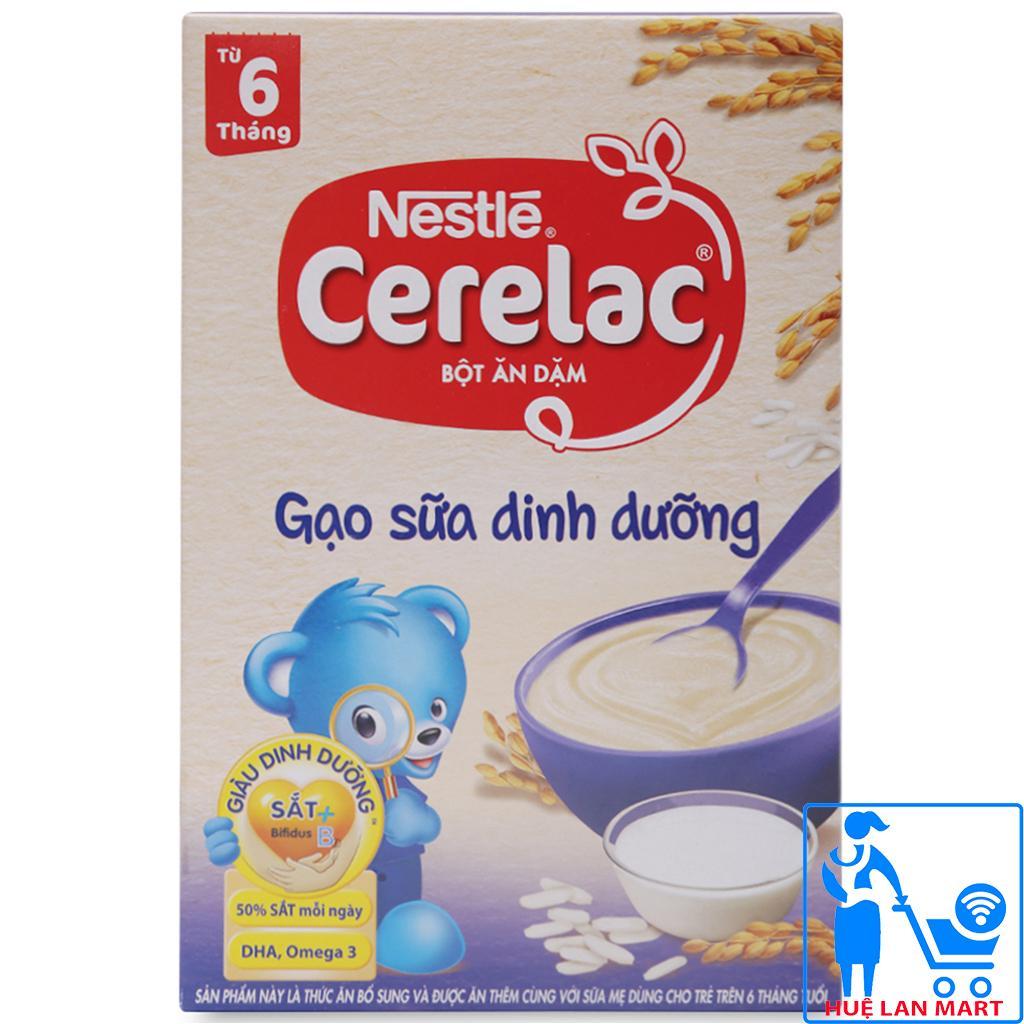 Bột Ăn Dặm Dinh Dưỡng Nestlé Cerelac Gạo Sữa Dinh Dưỡng Hộp 200g (Dành cho trẻ từ 6 tháng tuổi)