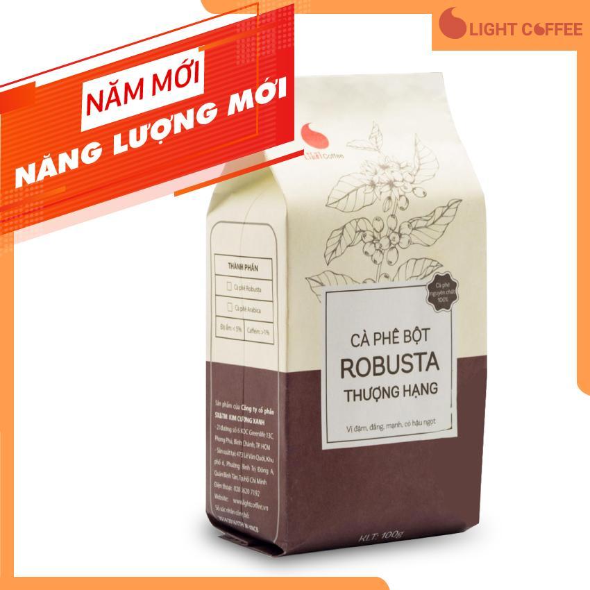 Cà phê nguyên chất Light Coffee  cà phê bột Robusta Thượng hạng  không tẩm ướp hương liệu  100g