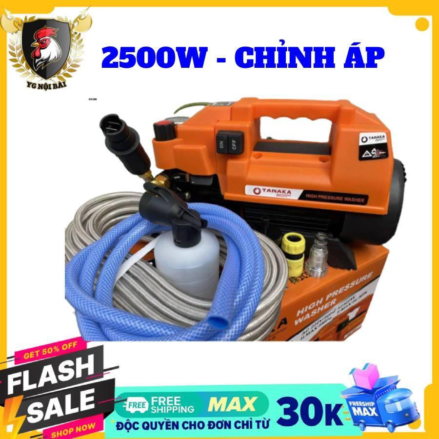 Máy rửa xe mini may rua xe công suất mạnh 2500W may rua xe mi ni máy rửa xe áp lực cao TANAKA máy xịt rữa xe dễ dàng sử dụng ống bơm nước 15m vòi bơm áp lực cao